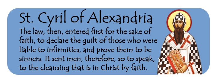 Cyril of Alexandria on the Cleansing that is in Christ by Faith